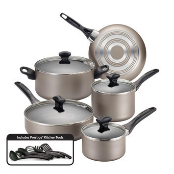 Meyer Corporation Us-farberware Division Farberware 15 Piece Champagne Nonstick Cookware Set - MEYER CORPORATION US-FARBERWARE DIVISION
