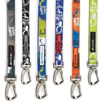 Casual Canine ZW4423 44 17 Xtrm Logo Lead 4 Ft x .63 In Black