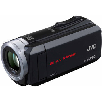 JVC Black GZ-R10 All-Weather Full HD Camcorder with 40x Optical Zoom and 3.0