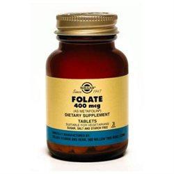 Solgar Folate (Metafolin) 400 Mcg - 100 Tablets - Folic Acid
