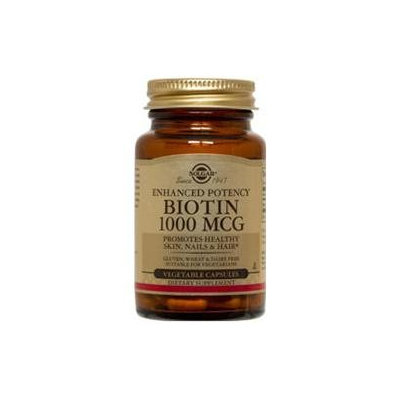 Solgar Biotin - 1000 mcg - 100 Vegetable Capsules
