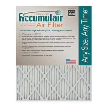 Accumulair Platinum 10x10x1 (9.5x9.5) MERV 11 Air Filter/Furnace Filters (2 pack)