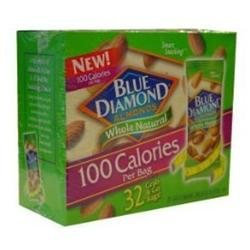Blue Diamond Almonds 100 Calories Per Bag - 32 Grab and Go Bags