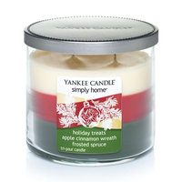 Yankee Candle simply home 10-oz. Tri-Tone Holiday Treats Jar Candle