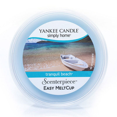 Yankee Candle simply home Scenterpiece Tranquil Beach Wax Melt Cup (Blue)