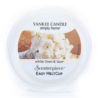 Yankee Candle simply home Scenterpiece White Linen & Lace Wax Melt Cup