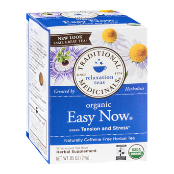 Traditional Medicinals Relaxation Teas Organic Tea Bags Easy Now  - 16 CT