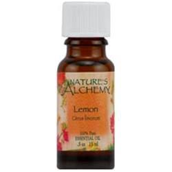 tures Alchemy Pure Essential Oil Lemon, 0.5 oz, Nature's Alchemy