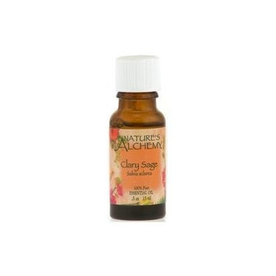 tures Alchemy Pure Essential Oil Clary Sage, 0.5 oz, Nature's Alchemy