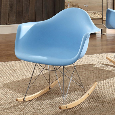 HomeVance Cecelia Rocking Chair (Blue)