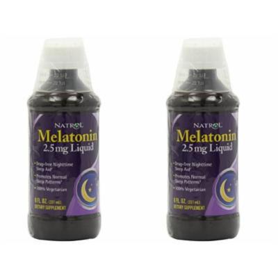 Natrol Melatonin 2.5mg Liquid, 8 Fluid Ounce