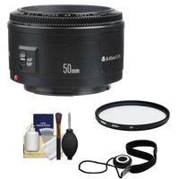 Canon EF 50mm f/1.8 II Lens + UV Filter + Accessory Kit for EOS 6D, 70D, 5D Mark II III, Rebel T3, T3i, T4i, T5, T5i, SL1 DSLR Cameras