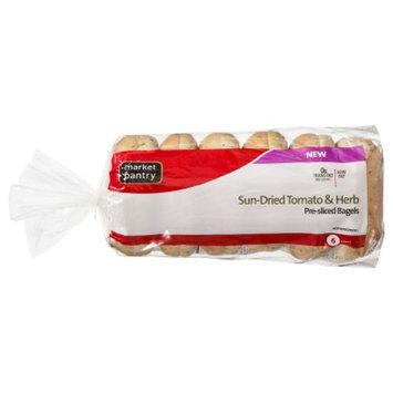 market pantry Market Pantry Sundried Tomato & Herb Bagels 6 ct