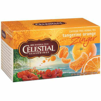 Celestial Seasonings Herb Tea Tangerine Orange Zinger 20 Tea Bags Case of 6