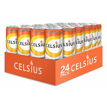 Celsius Sparkling Orange, 12-Ounce Cans (Pack of 24)