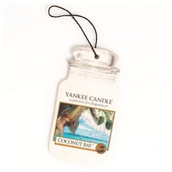 Yankee Candle Car Jar Hanging Air Freshener Coconut Bay Scent