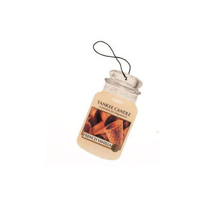 Yankee Candle Car Jar Hanging Air Freshener French Vanilla Scent