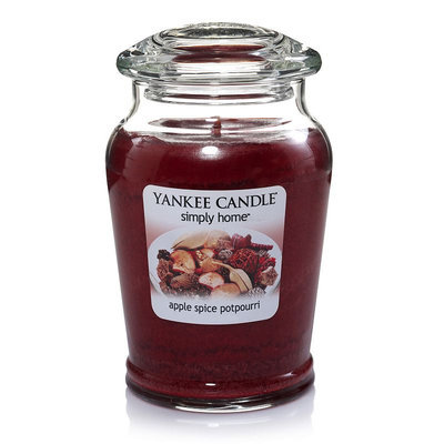 Yankee Candle simply home Apple Spice Potpourri 19-oz. Jar Candle (Brown)