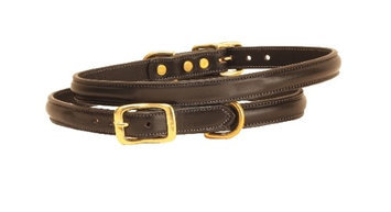 Tory Leather Dog Collar Black 12 Inch