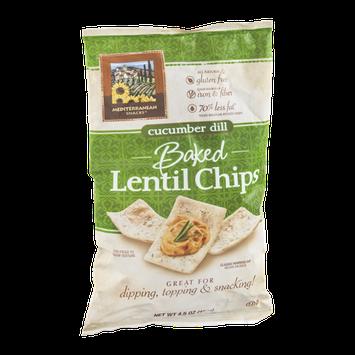 Mediterranean Snacks Lentil Chips Baked Cucumber Dill