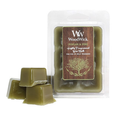 WoodWick Poplar & Pine 6-piece Wax Melt Set
