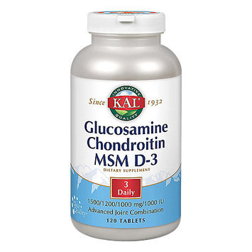 Kal Glucosamine Chondroitin MSM D-3 120 Tablets