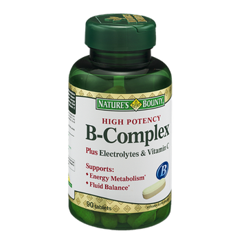 Nature's Bounty B-Complex Plus Electrolytes & Vitamin C Vitamin Supplement Tablets - 90 CT