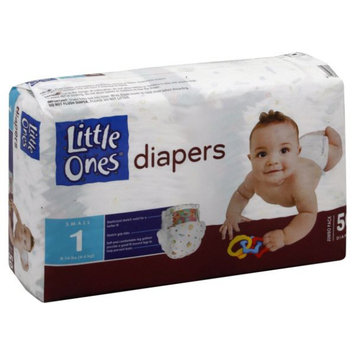 Little Ones Diapers, Small, Size 1 (8-14 lb), Jumbo Pack, 50 diapers