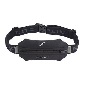 David Shaw Silverware Na Ltd Neoprene Single Pouch Running Belt Black Zipper