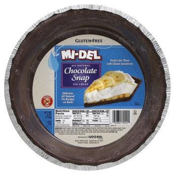 Midel Pie Crust Chocolate Snap Gluten Free 6 OZ (Pack of 12)