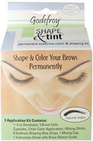 Godefroy Shape Tint Permanent Eyebrow Color Shaping Kit