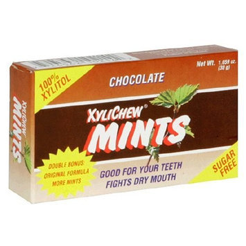 XyliChew Sugar Free Mints, Chocolate, 50-Count Boxes (Pack of 12)
