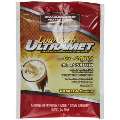 Champion Nutrition Ultramet Low Carb, Vanilla, 2- Ounce, 60-Count,