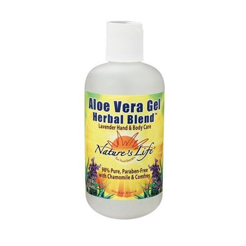 Nature's Life Aloe Vera Gel, Lavender, 8 Ounce (Pack of 2)