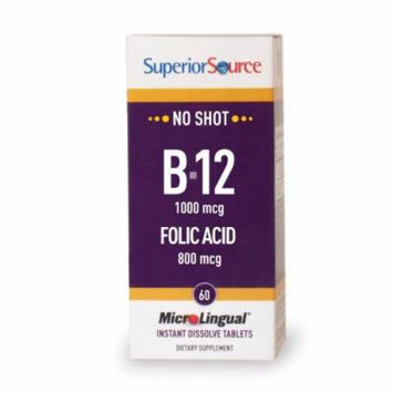 Superior Source Vitamin B12 (Cyan.) /Folic Acid (60 tablets)