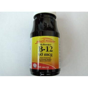 Natures Measure Hi Potency Vitamin B12 60mcg 30 Tablets