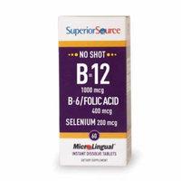 Superior Source Vitamin B12/B6/F. Acid/Selenium (60 tablets)
