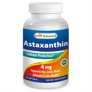 Best Naturals, Astaxanthin, 4 mg, 60 Softgels
