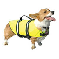 Digpets Paws Aboard Doggy Life Jacket in Yellow, Medium