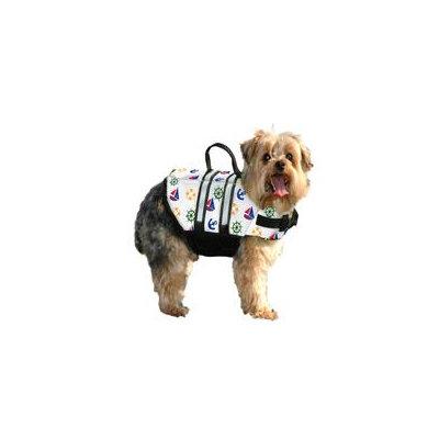 Paws Aboard Doggy Life Jacket Large Nautical