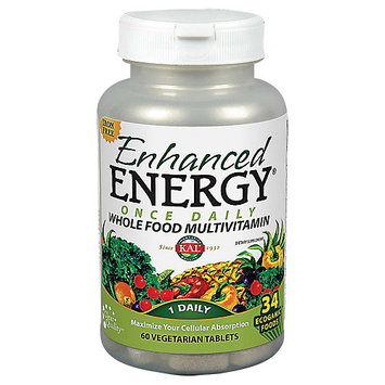 Kal Enhanced Energy Whole Food Vitamin 60 Vegetarian Tablets
