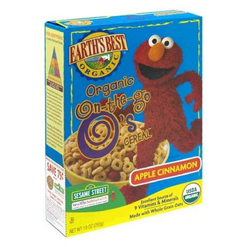 Earth's Best Sesame Street Organic O's Cereal, Apple Cinnamon, 10-Ounce Units (Pack of 6)