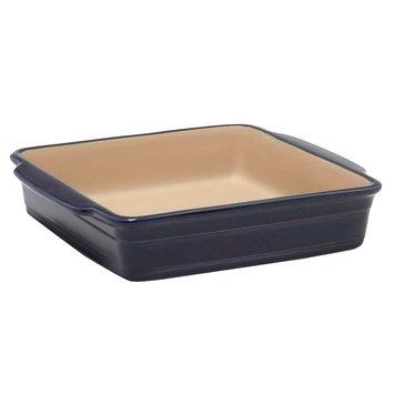turalstone Haeger Natural Stone Baking Dish, Square - Blue