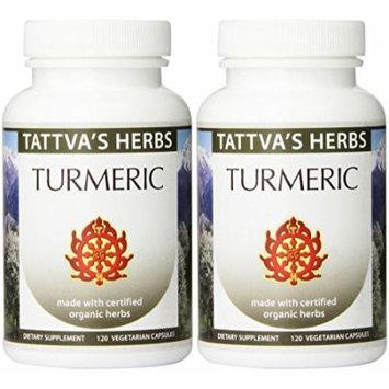 Turmeric Raw Organic 500mg 120 VCaps (Pack of 2 - 120 ct./ea)