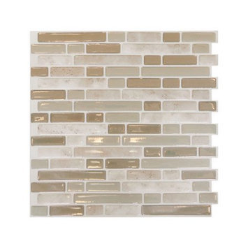 Smart Tiles 10.25 in. x 10 in. Bellagio Sabia Mosaic Decorative Wall Tile (6-Pack) SM1043-6