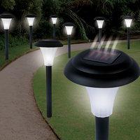 Trademark Poker Trademark Tools Set of 8 Bright Solar Accent Lights - Cordless