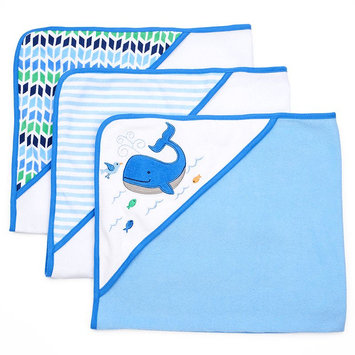 Just Born 3-Pk. Fish Hooded Towels