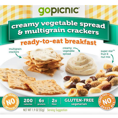 GoPicnic Creamy Garden Vegetable Spread & Multi-grain Crackers 1.9oz