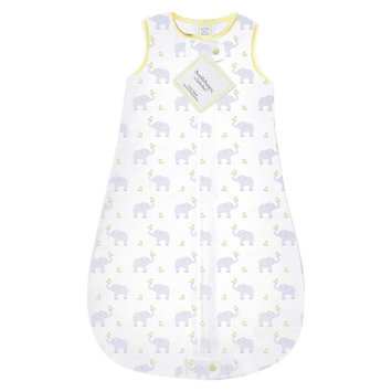 Swaddle Designs SwaddleDesigns zzZipMe Sack with 2-Way Zipper, Cotton Wearable Blanket - Elephant & Chickies - Pastel Yellow (3-6 month)