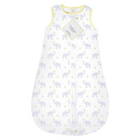 Swaddle Designs SwaddleDesigns zzZipMe Sack with 2-Way Zipper, Cotton Wearable Blanket - Elephant & Chickies - Pstl Yellow (12-18 month)